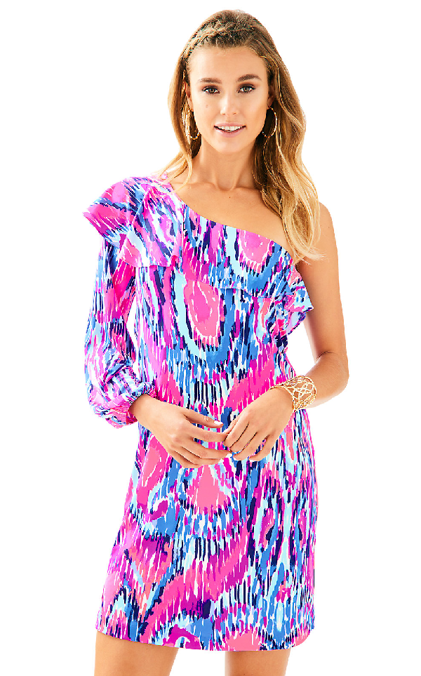 Lilly Pulitzer Womens Amante Silk Jersey Dress In Multi Free Spirit