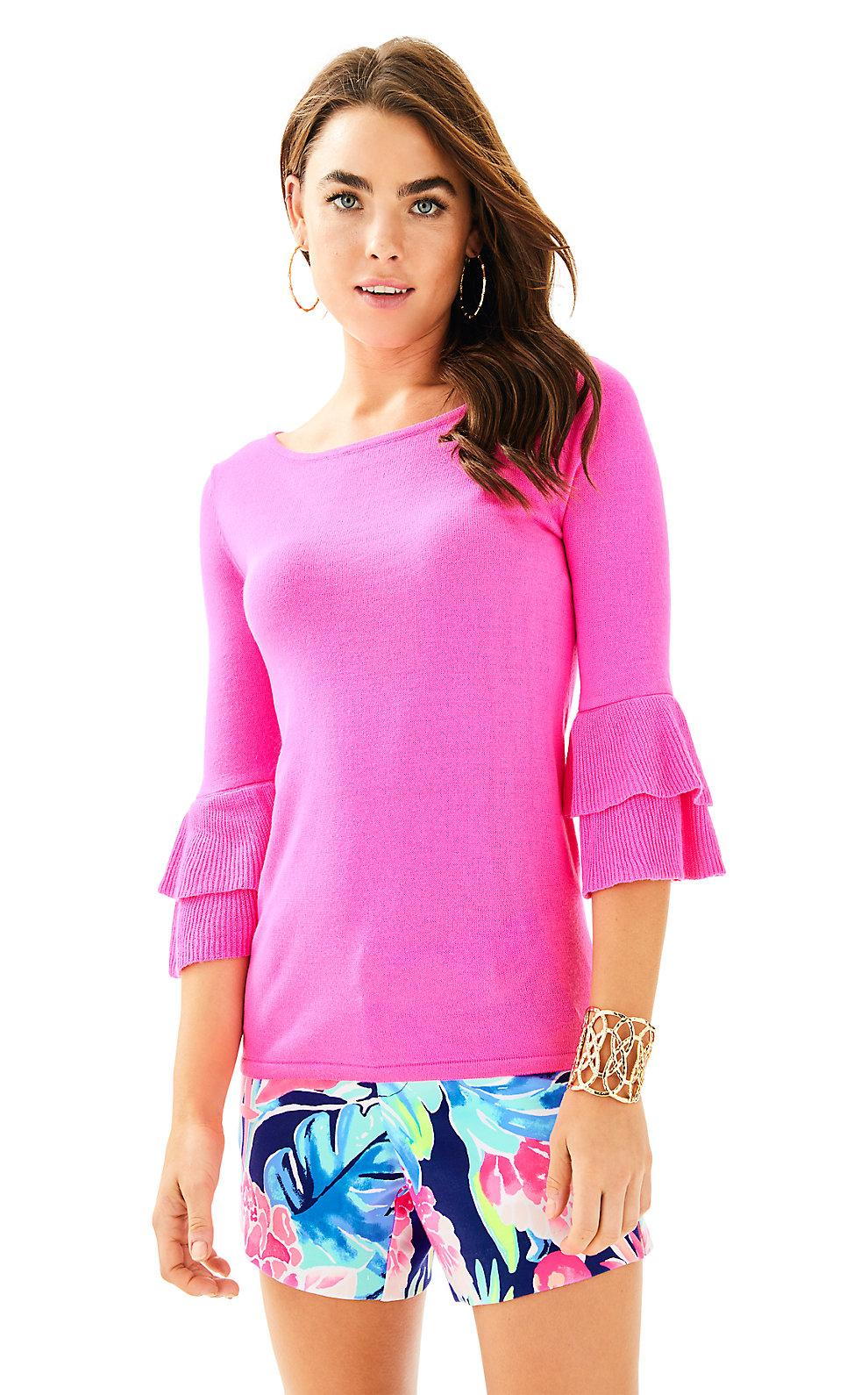 Lilly Pulitzer Clare Sweater In Raz Berry