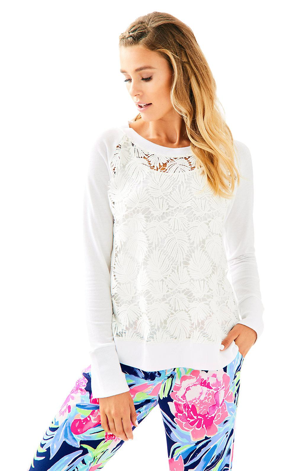 Lilly Pulitzer Citron Pullover In Resort White