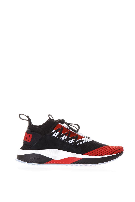 Puma Tsugi Jun Black & Red Sneakers In Black-red