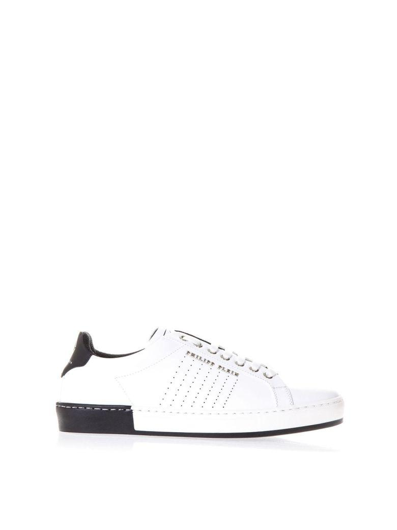 Philipp Plein White Leather With Logo Lettering Sneakers