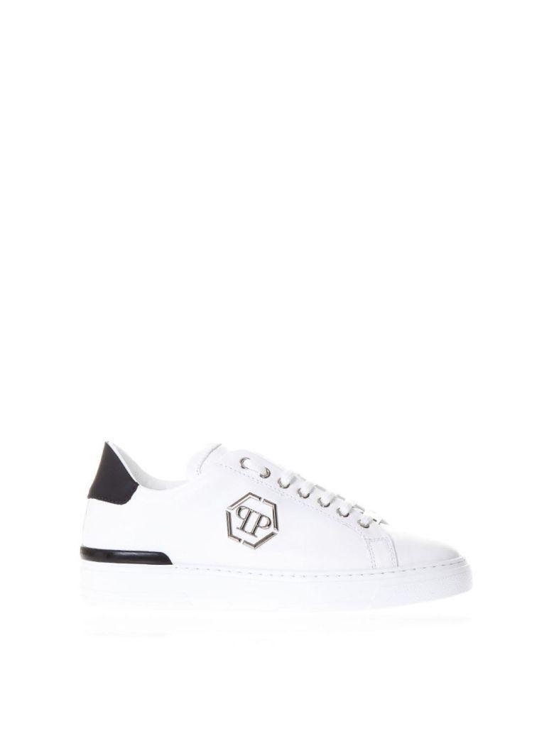 Philipp Plein Caribou White Leather Sneakers With Logo