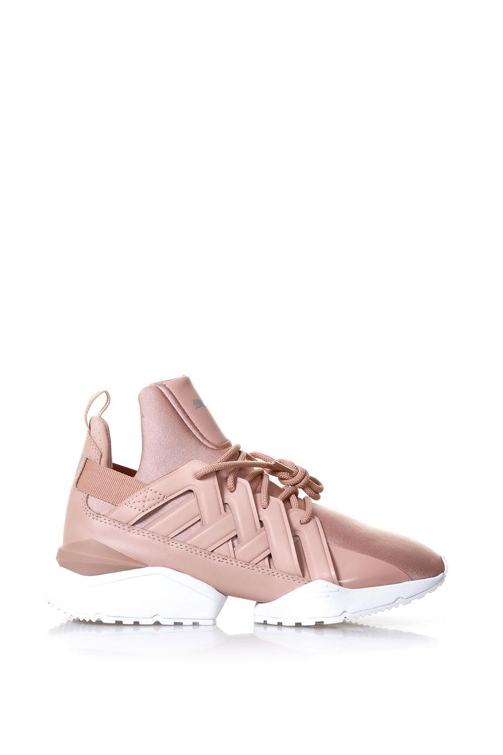 Puma Muse Pink Eco-satin Sneakers