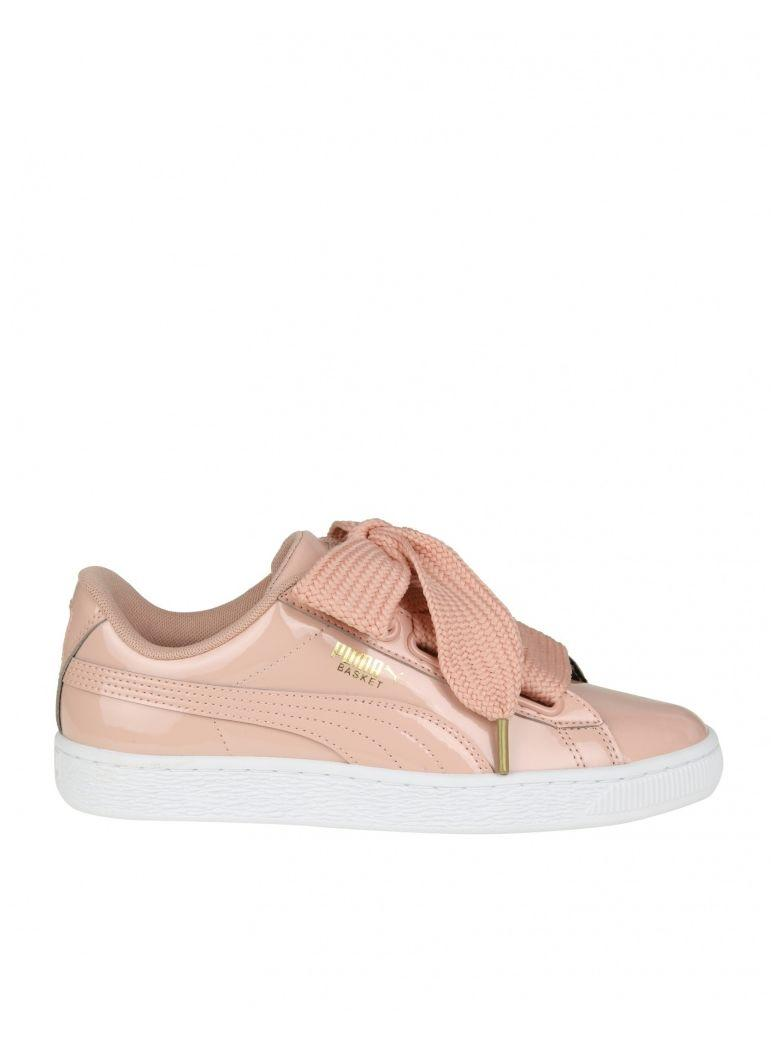 """Puma Sneakers """"basket Heart"""" In Pink Patent"""