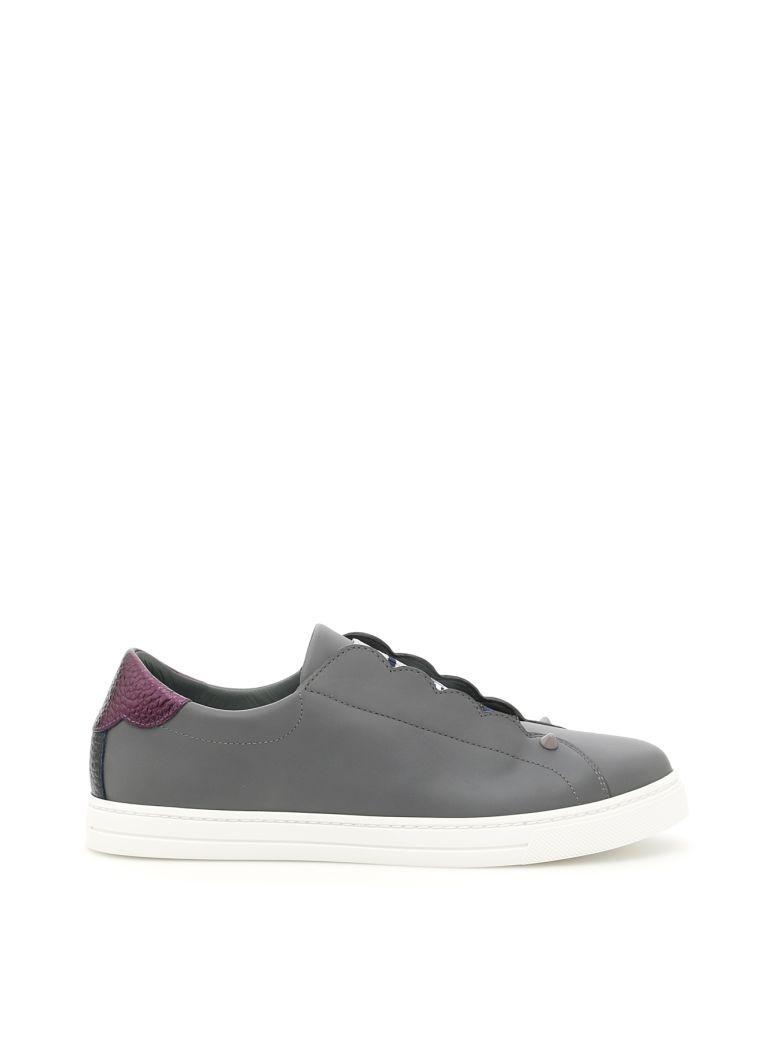 Fendi Calfskin And Lurex Sneakers In Alg+amar+b.berry+mlcgrigio