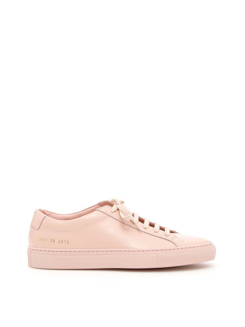 Common Projects Original Achilles Low Sneakers In Blushrosa