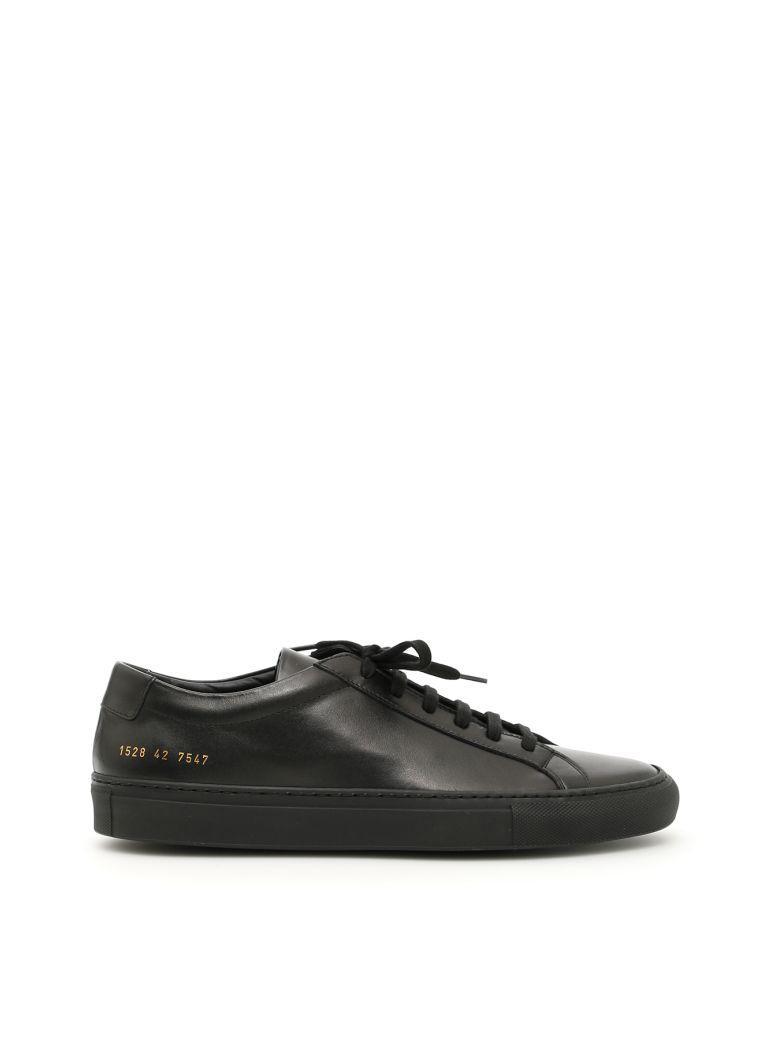 Common Projects Original Achilles Low Sneakers In Blacknero