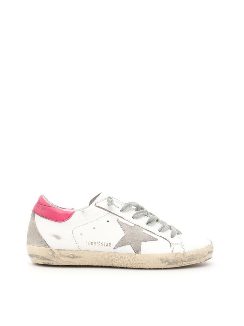 Golden Goose Superstar Sneakers In White Magenta Creambianco