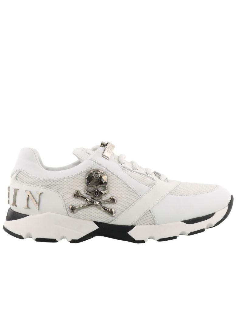 Philipp Plein Runner Lion Sneaker In White