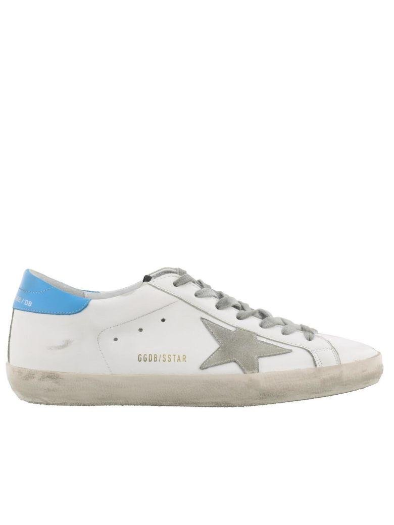 Golden Goose Superstar Sneakers In White-blue-ice Star
