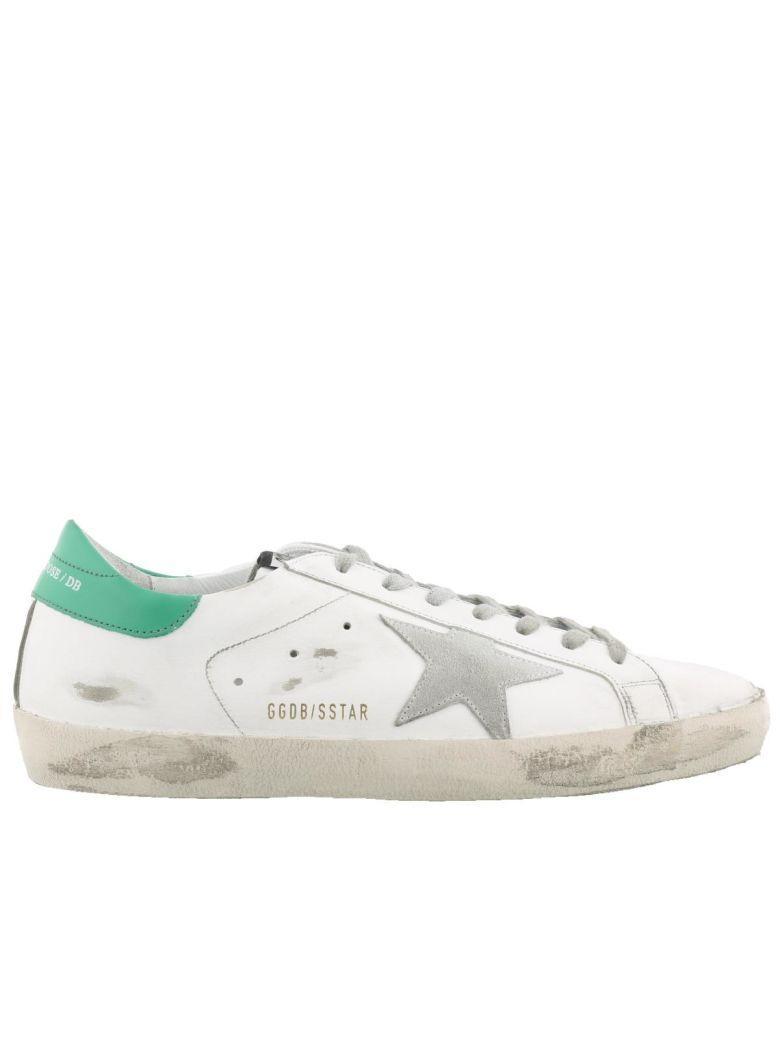 Golden Goose Superstar Sneaker In White-mint Green-ice Star