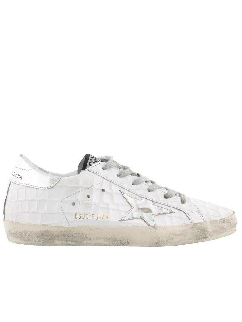 Golden Goose Superstar Sneaker In Printed Cocco-silver Star