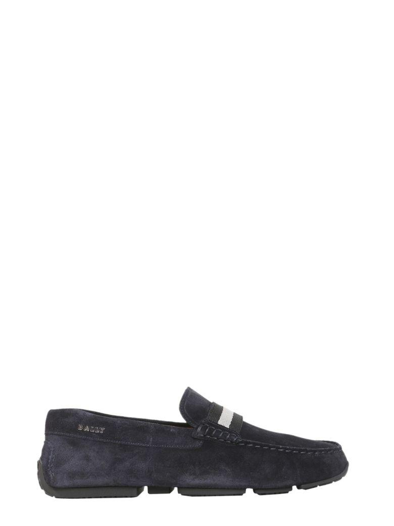 Bally Driver Pearce Loafers In Blu
