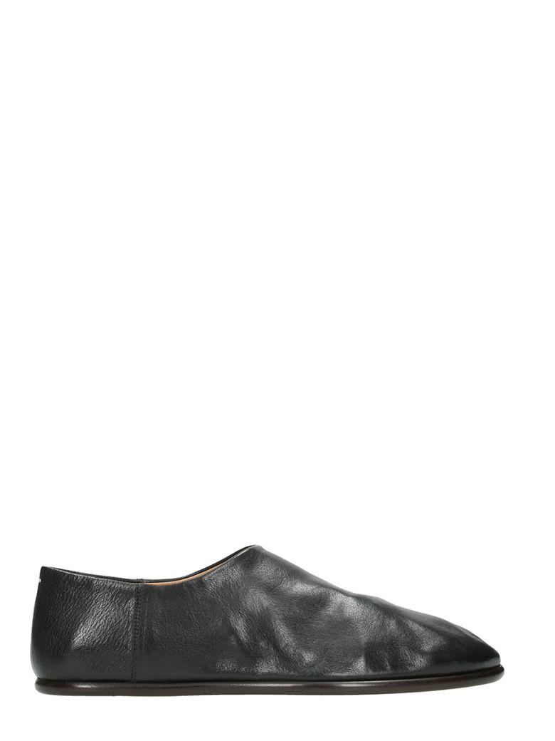 Maison Margiela Slip-on Almond Toe Shoes In Black