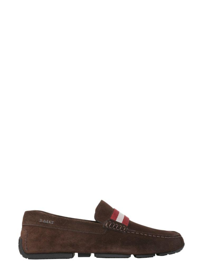 Bally Driver Pearce Loafers In Marrone