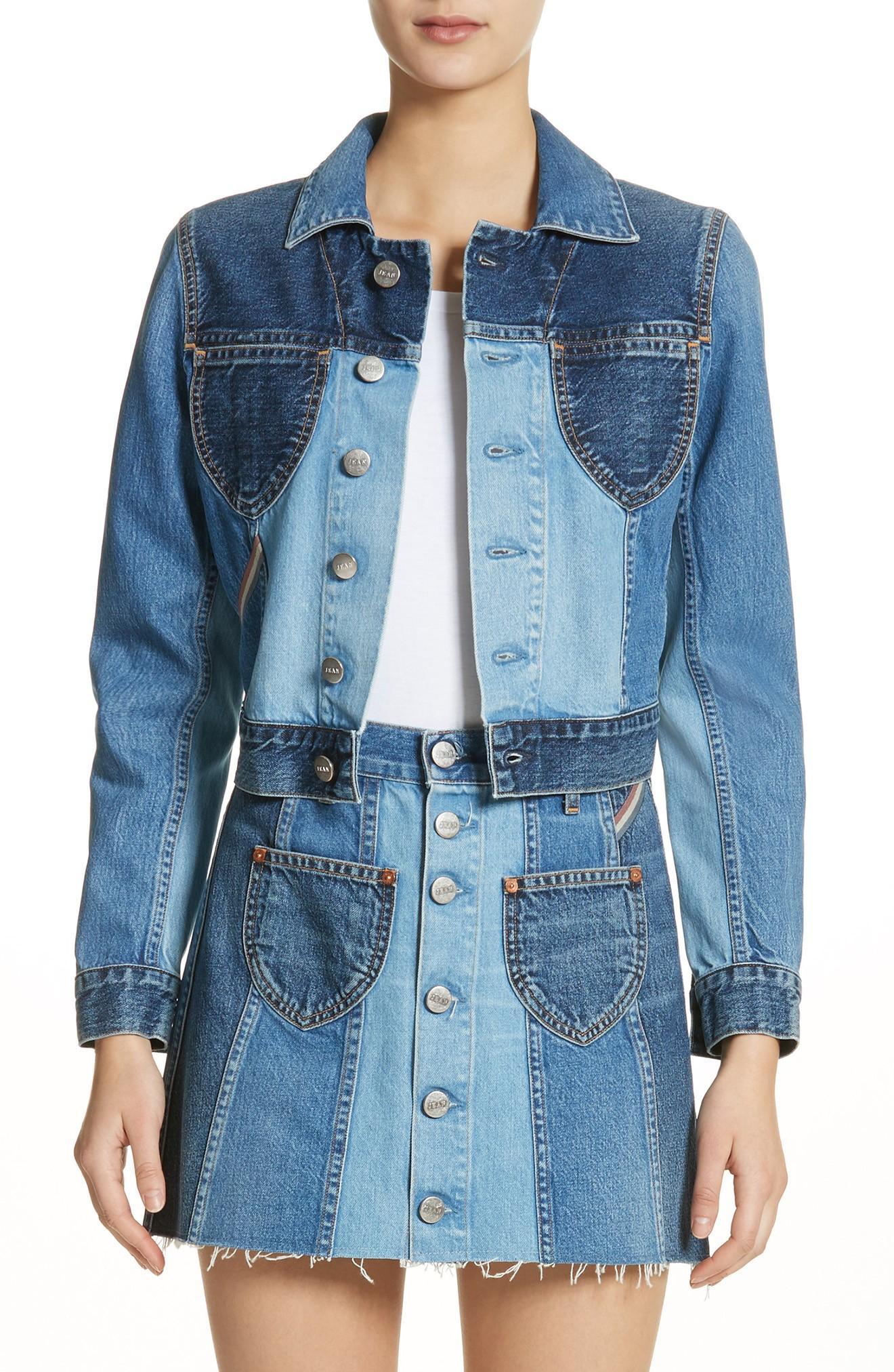 06054d63393 Jean Atelier Jacques Crop Denim Jacket In Jagger