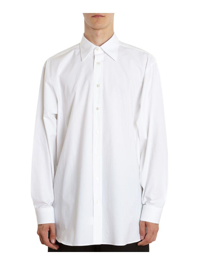 Raf Simons Substance Cotton Shirt In Bianco