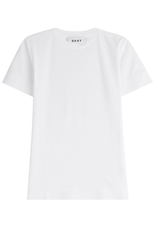Dkny Cotton T-shirt In White