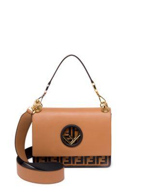 9c2968cd Small Kan I Logo Leather Shoulder Bag - Brown in Tabacco/ Orzo