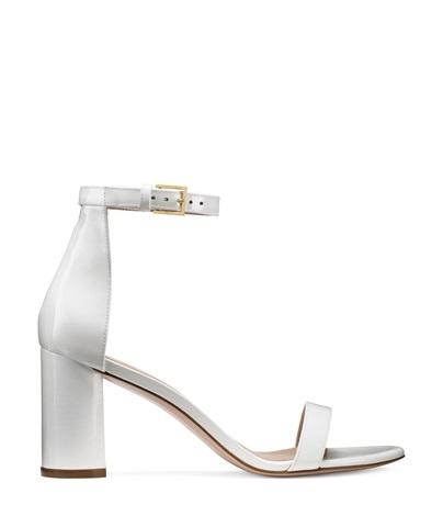 29b1e4648 Stuart Weitzman The 75Lessnudist Sandal In Off White Patent