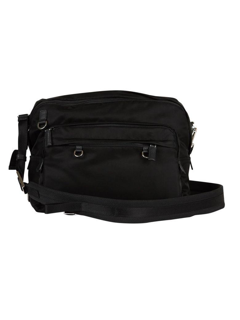 df83fb359d03a3 Prada Viaggio Strap Shoulder Bag In Nero | ModeSens