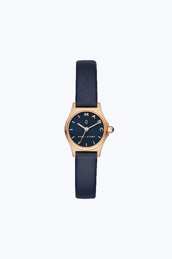 13081fd785b87 Marc Jacobs Henry Leather Strap Watch, 26Mm In Blue/Rose Gold | ModeSens