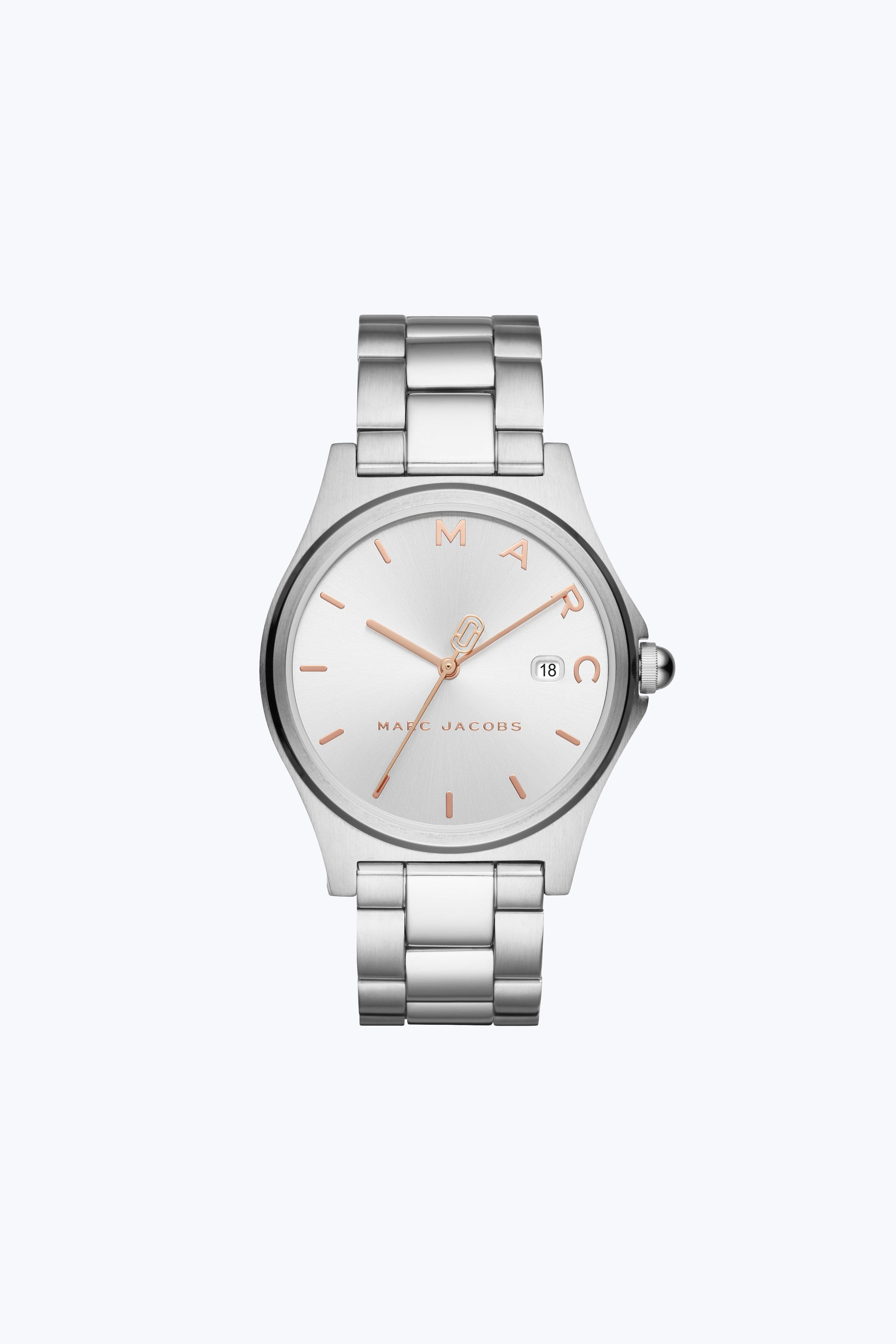 Marc Jacobs Henry Bracelet Watch, 26Mm In Silver