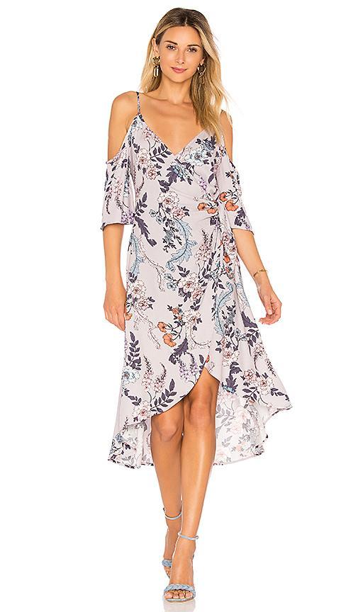 Minkpink Lavender Love Wrap Dress In Lavender. In Multi