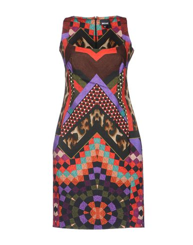 Just Cavalli Short Dress In Maroon