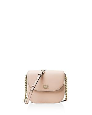 54dcb80a9e4f8b Michael Michael Kors Half-Dome Leather Crossbody Bag - Golden Hardware In  Soft Pink