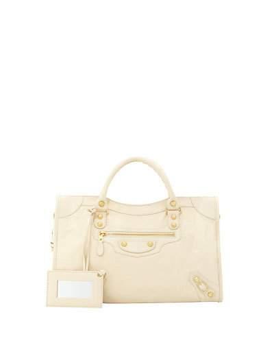 Balenciaga Giant 12 Silver Velo Tote Bag, Cream