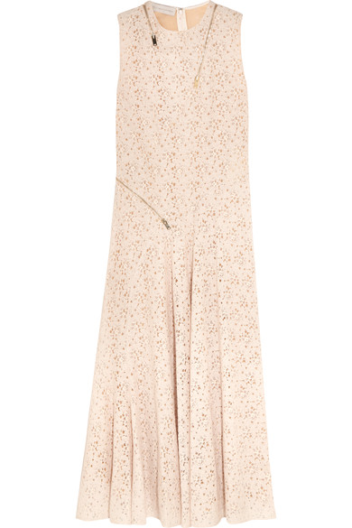 Stella Mccartney Woman Janelle Zip-detailed Lace Gown Ivory