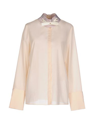 Just Cavalli Solid Color Shirts & Blouses In Beige