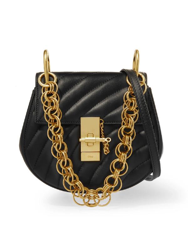 0a7faf1c4fc ChloÉ Drew Bijou Small Leather Crossbody Bag - Black
