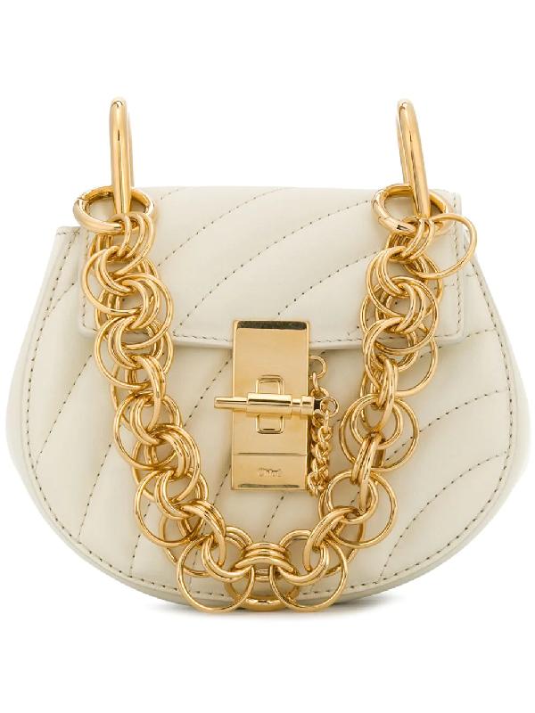 fc0126d5 Drew Bijou Quilted Leather Shoulder Bag in Ivory