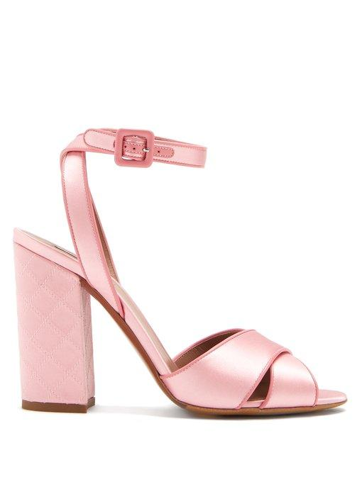 5c9091bf661 Tabitha Simmons Connie Quilted Crossover Strap Sandals In Blush-Pink ...