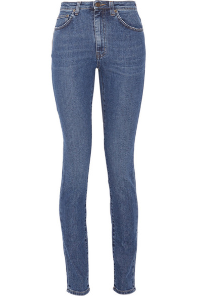 Saint Laurent High-rise Skinny Jeans In Blue