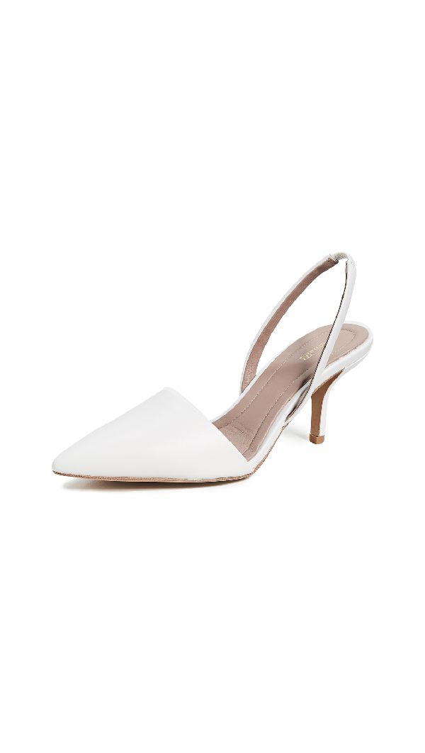 e13bb8b41e2 Diane Von Furstenberg Mortelle Leather Slingback Pumps In White ...