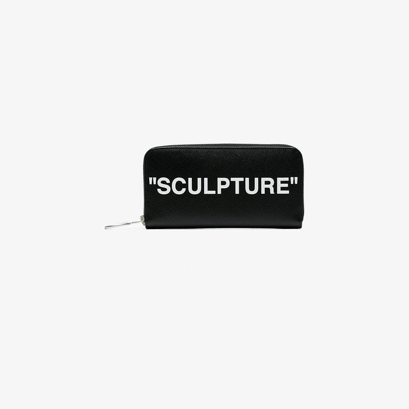 bb848e4215f8 Off-White Medium Sculpture Leather Wallet In Black