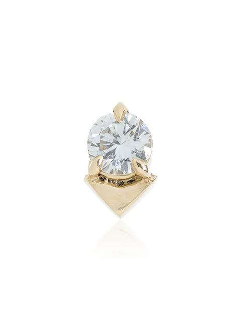 Lizzie Mandler Fine Jewelry 18kt Goldohrring Mit Diamant In Metallic