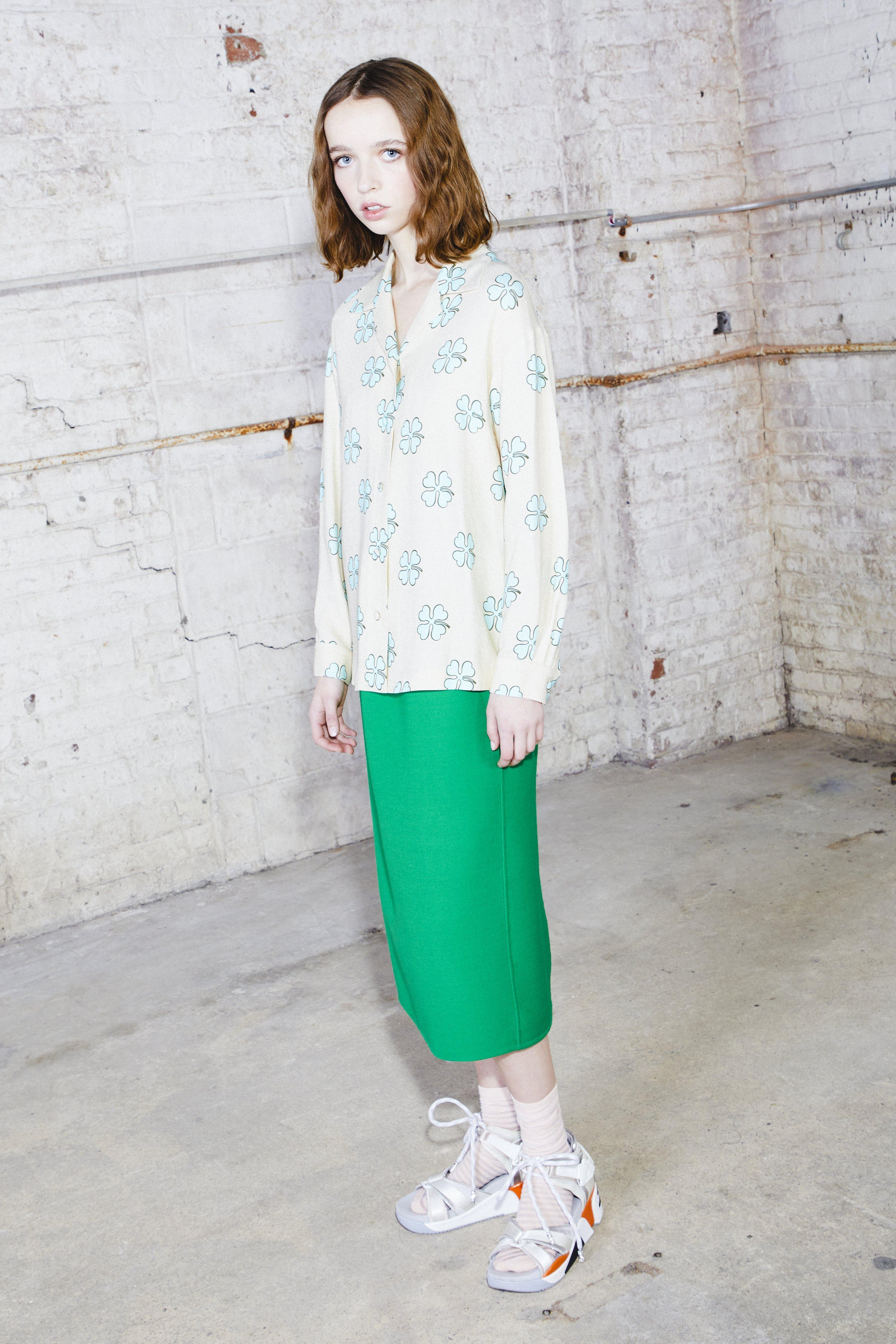 Marc Jacobs Elastic Waist Pencil Skirt In Green