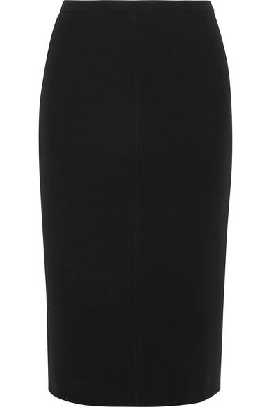Max Mara Bugia Stretch-wool Pencil Skirt In Black