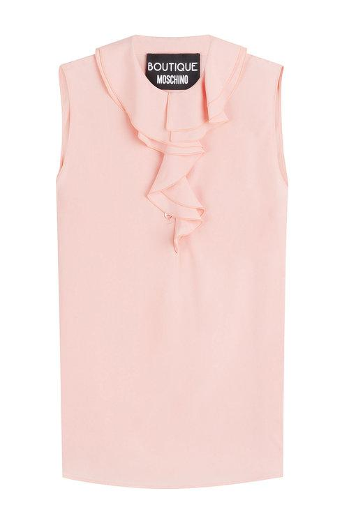Boutique Moschino Shell With Ruffled Collar In Pink