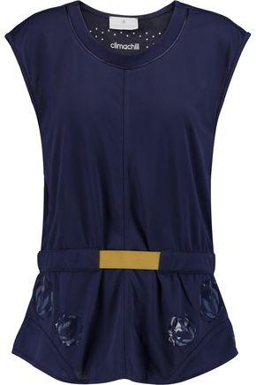 Adidas By Stella Mccartney Woman Climachill Stretch Top Navy In Midnight Blue