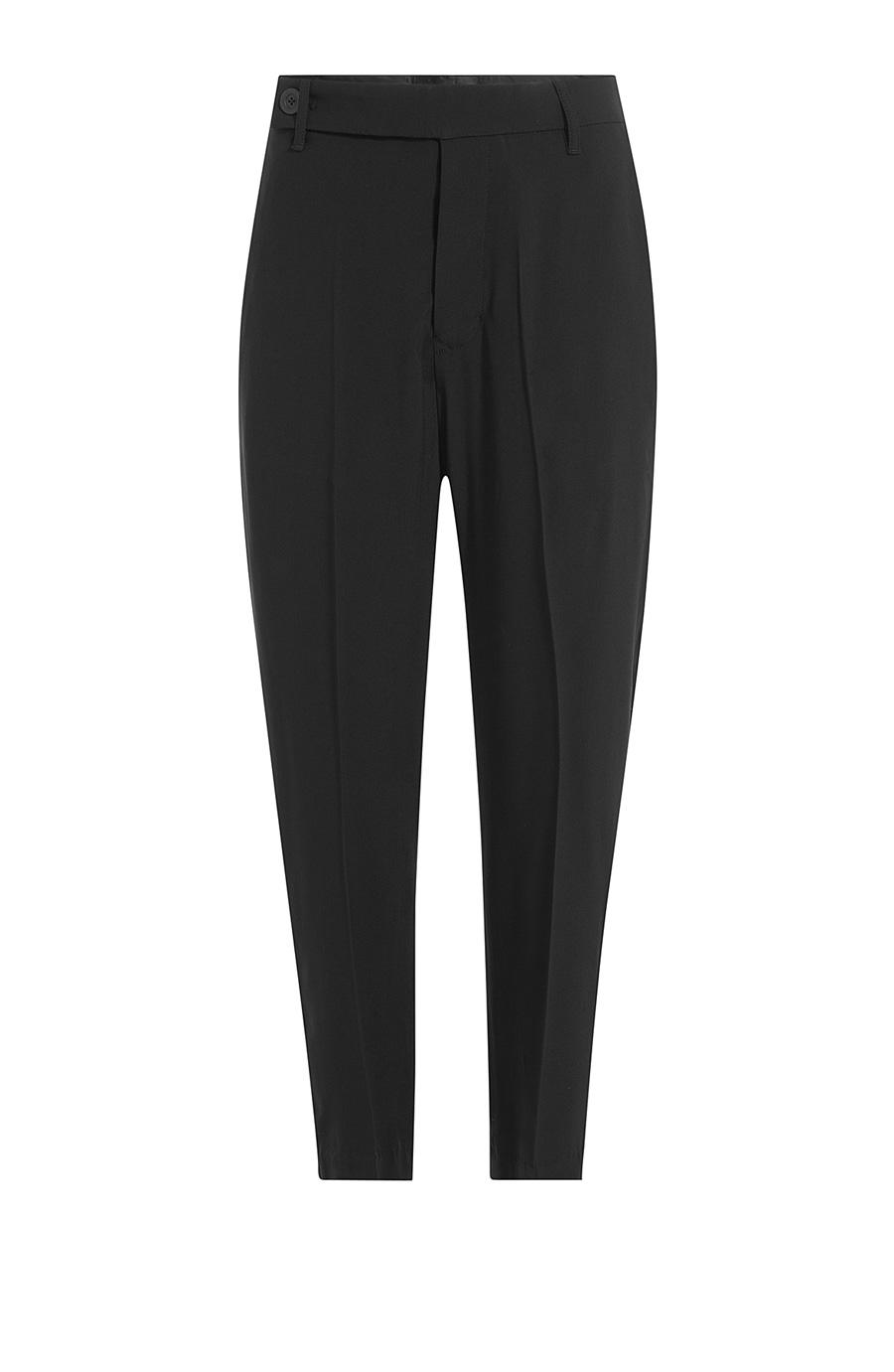 Rick Owens Straight Leg Harem Trousers In Black