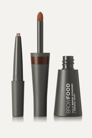 Lashfood Browfood Aqua Brow Powder + Pencil Duo - Brunette In Brown