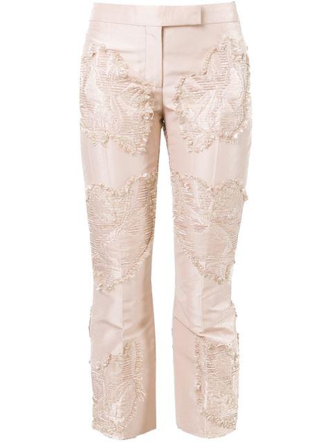 Alexander Mcqueen Textured Panel Trousers