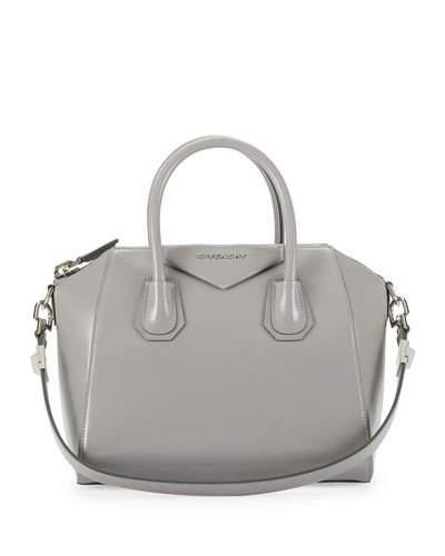 Givenchy Antigona Small Leather Satchel Bag, Pearl Gray In 051 Pe Grey