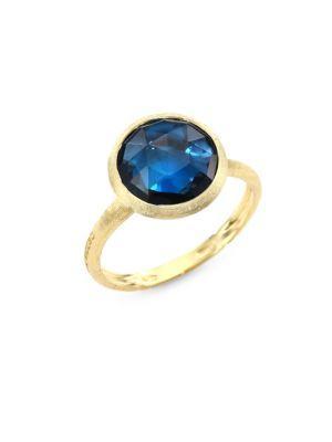 Marco Bicego Jaipur London Blue Topaz Statement Ring In Yellow Gold