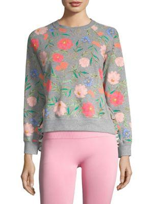 0f9a4ab591e Kate Spade Blossom Cropped Pullover In Flint Heather